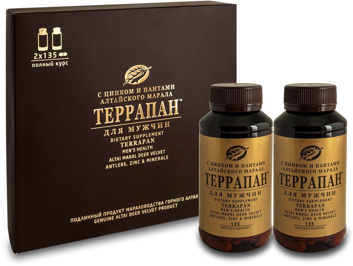 Террапан для мужчин, капс. 350 мг с цинком и пантами марала - Аптека