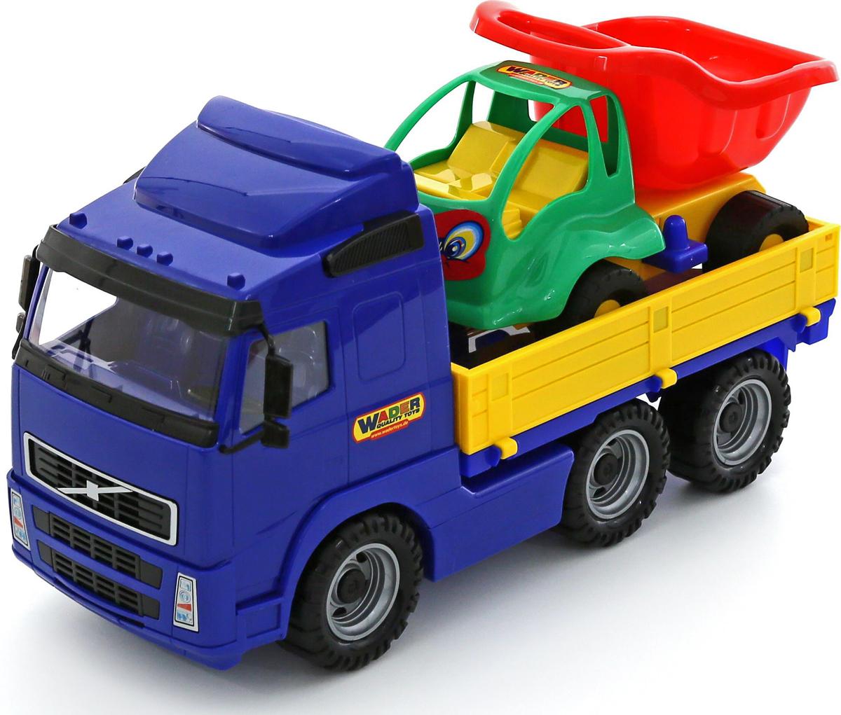 Полесье Грузовик бортовой Volvo и Самосвал Муравей 9715 брелок для машины рено