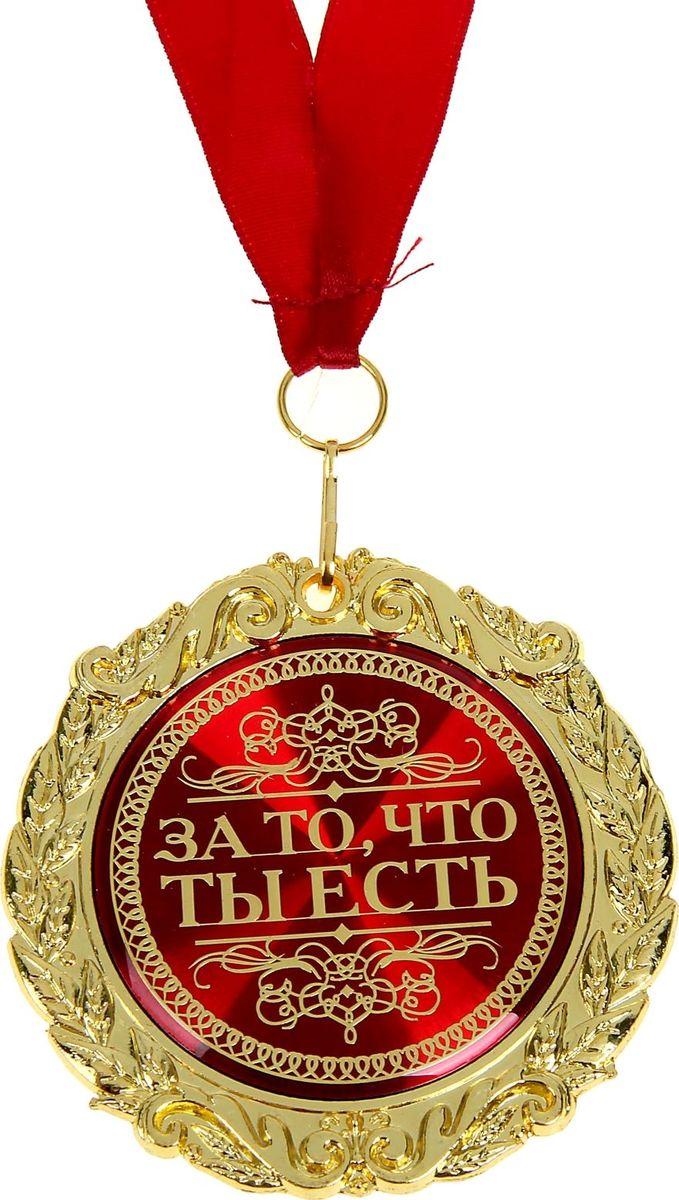 Медаль сувенирная За то, что ты есть, диаметр 7 см586125Создана формула идеального поздравления: классическая форма и праздничное содержание. Именно такой и является Медаль в бархатной коробке За то, что ты есть. Это отличная награда для самых достойных представителей своего времени. Эксклюзивный сувенир станет достойным украшением вечера и поможет создать незабываемую церемонию поздравления. Медаль изготовлена из фигурного металла золотистого цвета, декорирована цветной вставкой с акриловым покрытием, что предотвращает её потускнение. Награда упакована в бархатную подарочную коробку, идет в комплекте с лентой. Порадуйте этой медалью свою вторую половинку в День рождения, 14 февраля или просто так, без повода. вы подарите море эмоций и радости, ведь так приятно знать, что вас любят и ценят просто за то, что вы есть.