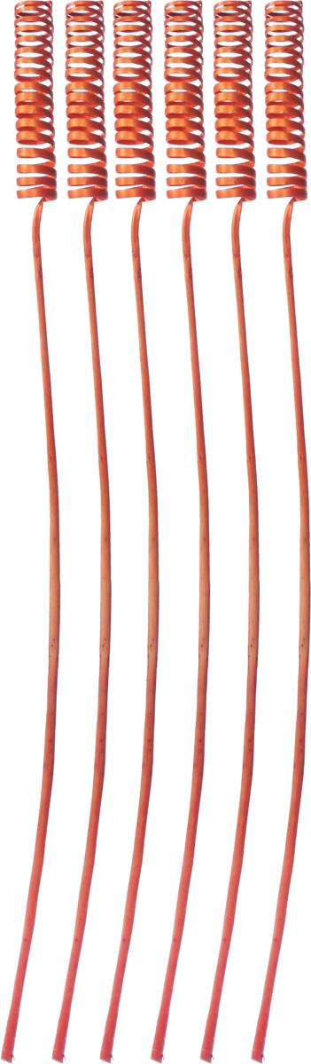 Украшение декоративное Lovemark Завиток, цвет: оранжевый, длина 63 см, 6 шт6062_оранжевыйБукет с цветами ручной работы - великолепный подарок себе и вашим близким. Этот очаровательный предмет интерьера будет приковывать взгляды ваших гостей.Изделия из соломы сочетают в себе энергию солнечных лучей и человеческих рук. Несмотря на свой хрупкий вид, cолома - прочный и долговечный материал, а значит не помнется и не поломается со временем. Рекомендации по уходу: изделие должно находиться в сухом помещении