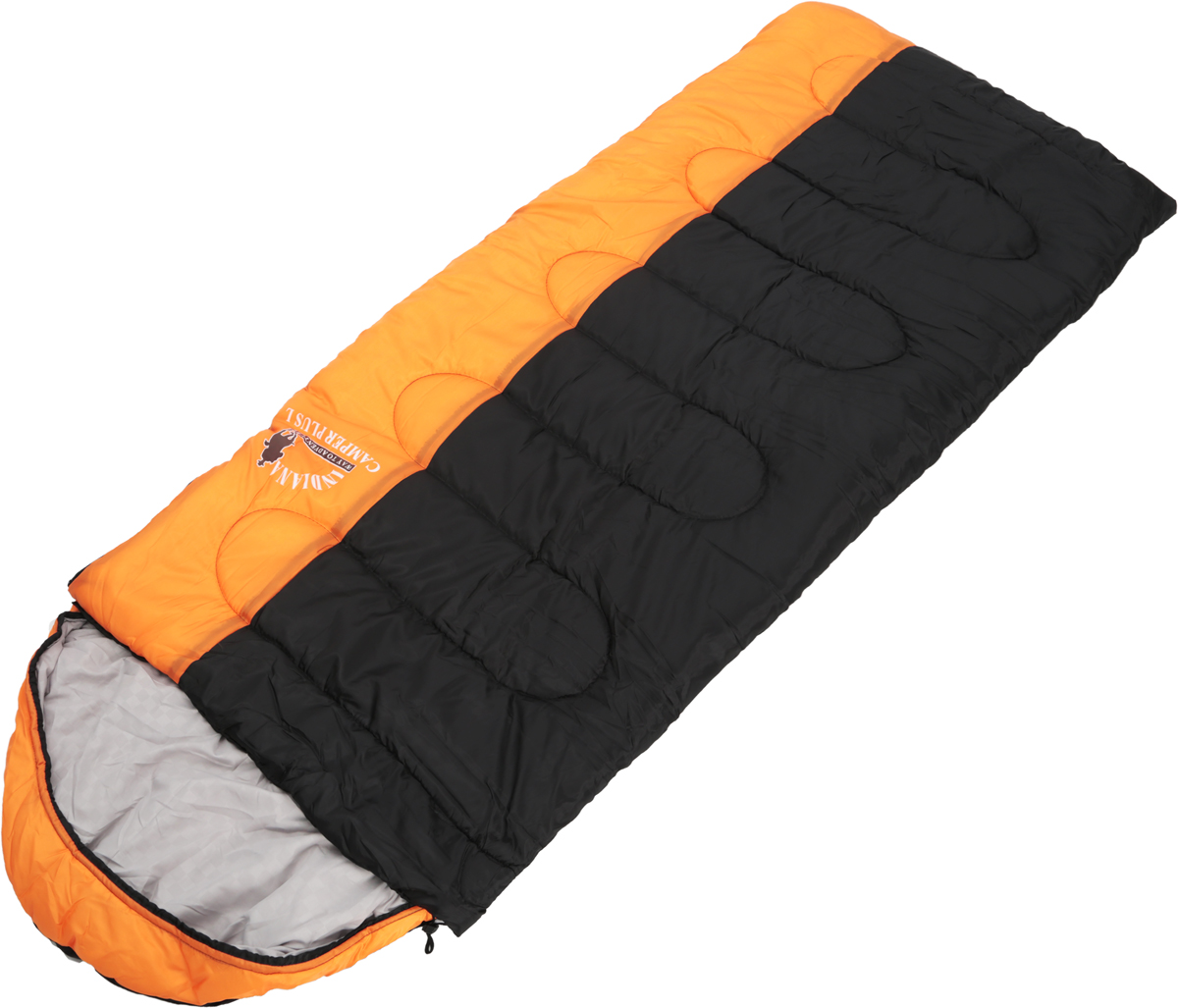 Мешок спальный Indiana Camper Plus, левосторонняя молния, цвет: оранжевый, серый, черный, 230 х 90 см360700042_оранжевый, серый, черныйСпальный мешок Indiana Camper Plus, выполненный из высококачественных материалов, предназначен для комфортного сна даже в холодное время года. Он не только убережет вас от холода, но и, благодаря увеличенным размерам, обеспечит максимально комфортные условия для вашего сна. Разъемная молния позволяет состыковать два спальника в один большой.