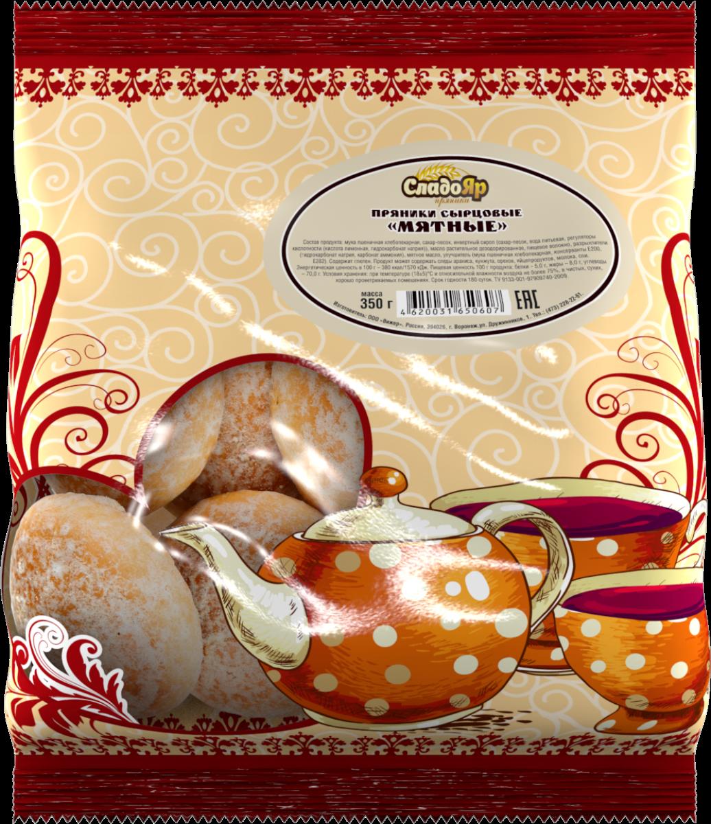 Вижер пряники мятные, 350 г4620031650607Великолепные угощение к любому столу с восхитительным свежим ароматом сладкой мяты.
