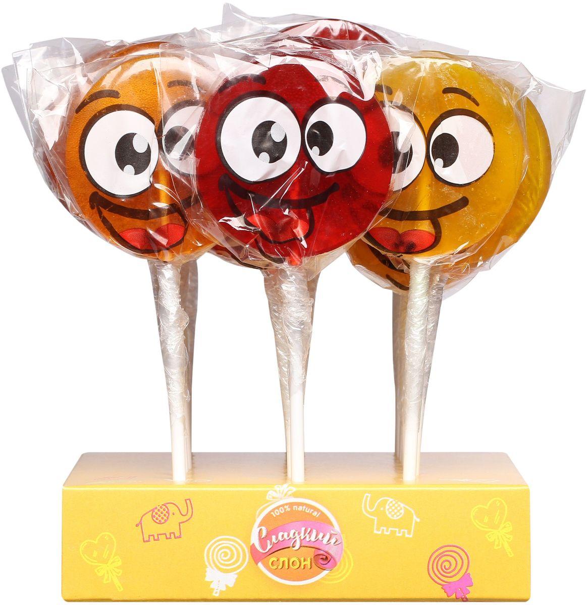 Сладкий слон карамель леденцовая смайлик ассорти, 30 г4670013498543Порадуйте себя и детей карамелью Смайлик. Вкусы клубники, апельсина и ананас в блоке из 24 штук.