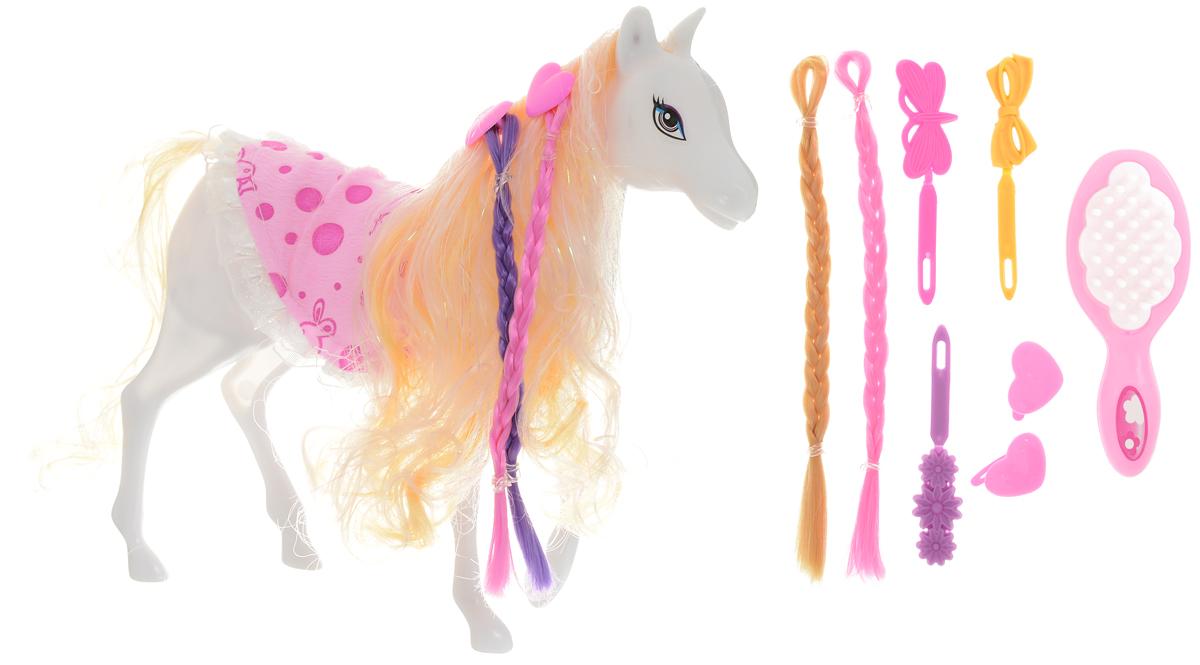 Shantou Gepai Лошадка для кукол цвет белый резиновая лошадка для прыганья