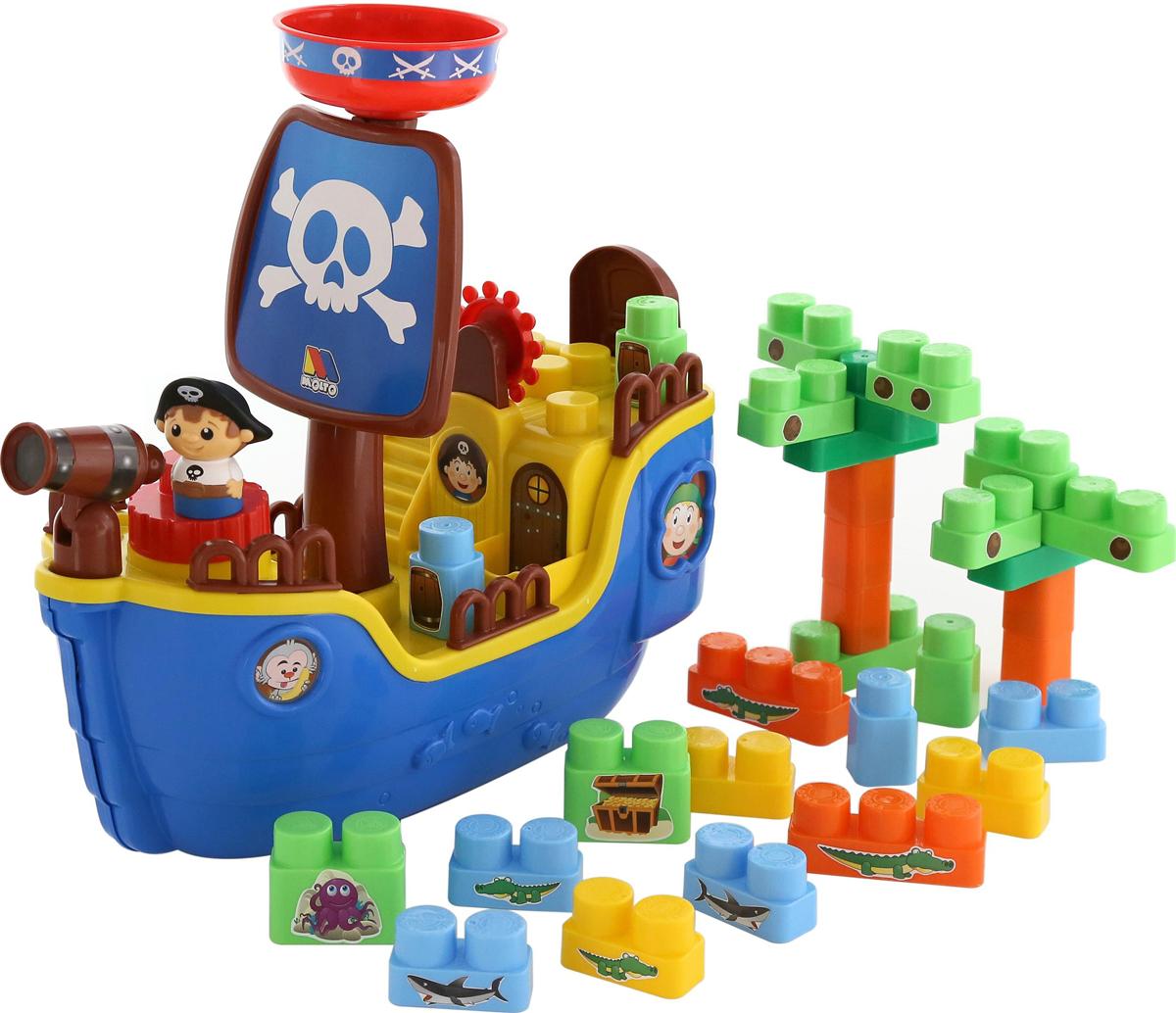 Полесье Пиратский корабль + конструктор - Транспорт, машинки