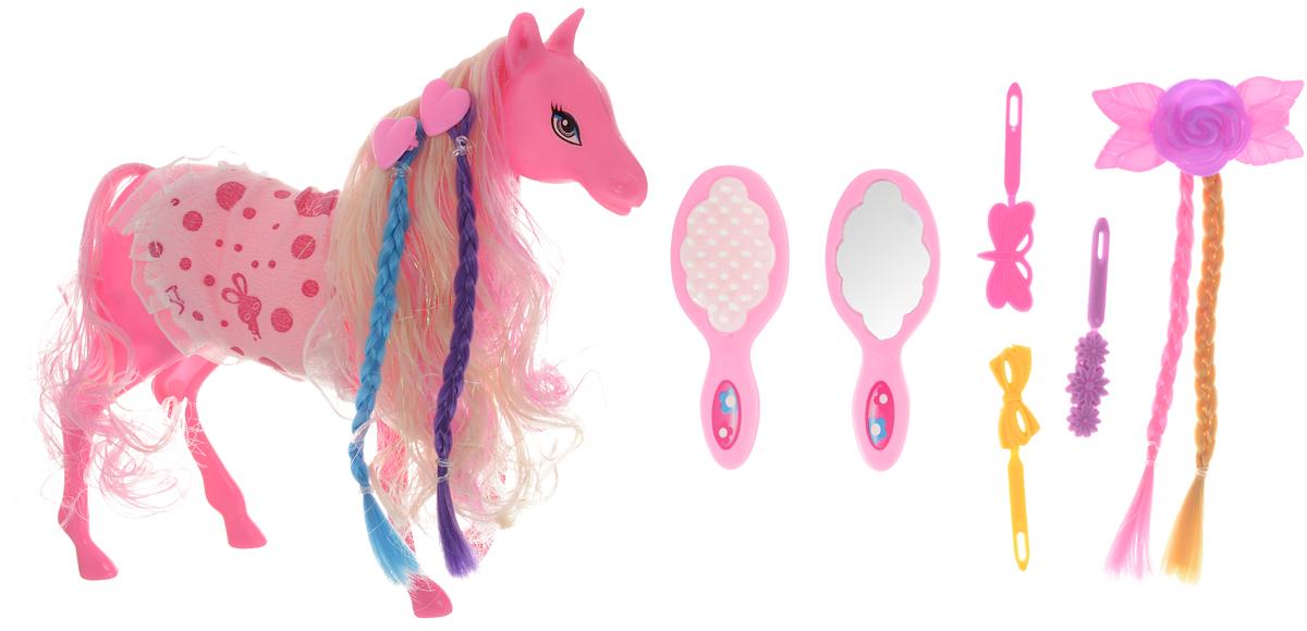 Shantou Gepai Лошадка для кукол цвет розовый резиновая лошадка для прыганья