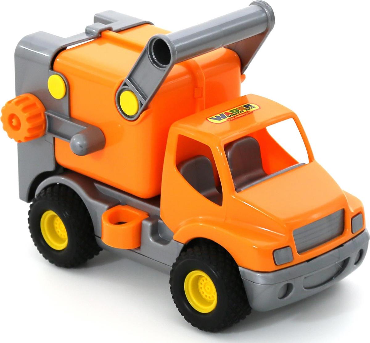 Полесье Коммунальная спецмашина КонсТрак цвет оранжевый полесье коммунальный автомобиль констрак