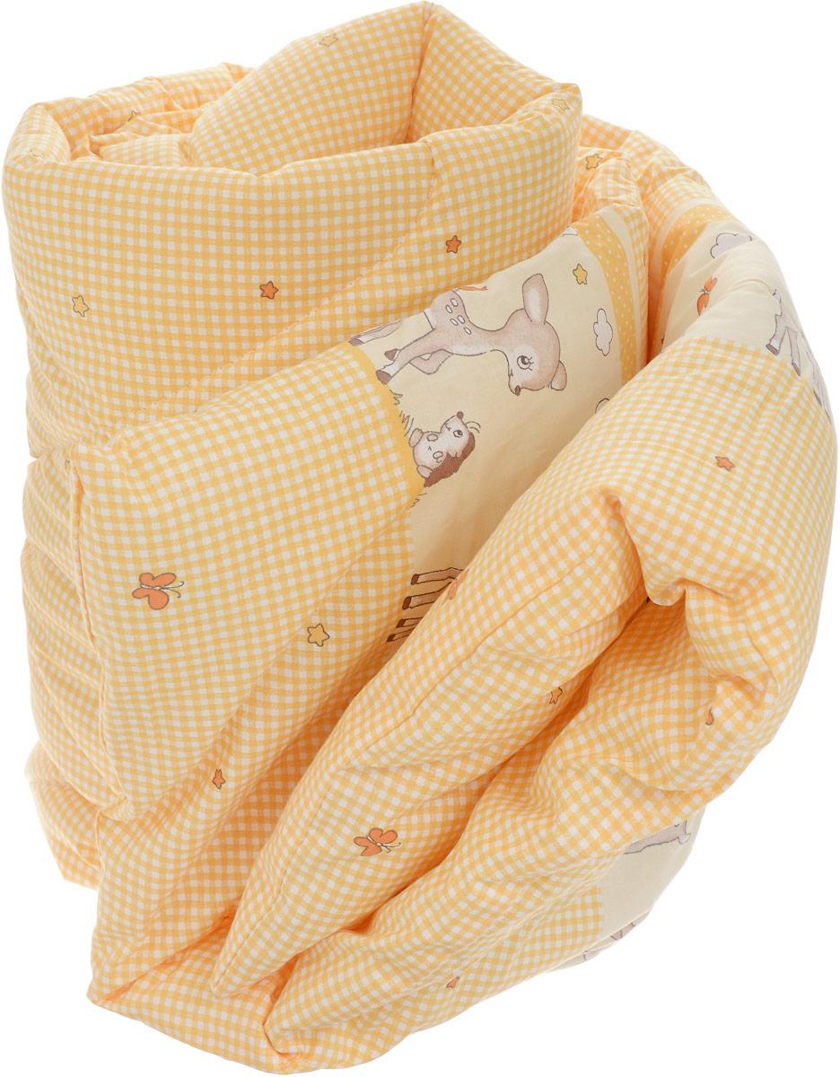 Сонный гномик Одеяло детское стеганое цвет желтый белый 110 х 140 см057/4_желтый, белыйДетское стеганое одеяло Сонный гномик снимет усталость и подарит вашему малышу спокойный и здоровый сон.Чехол одеяла выполнен из 100% хлопка. Он обладает прекрасными влагопропускными свойствами, что позволяет ему впитывать лишнюю влагу с тела человека. Также хлопковую ткань можно назвать дышащей, поскольку она в значительной степени пропускает воздух. Ткань из хлопка не липнет к телу и устанавливает оптимальный микроклимат на поверхности кожи. Наполнитель - 100% холлофайбер.Одеяло простегано. Стежка надежно удерживает наполнитель внутри и не позволяет ему скатываться.Уход: не гладить, только ручная стирка, нельзя отбеливать, нельзя выжимать и сушить в стиральной машине, химчистка запрещена.
