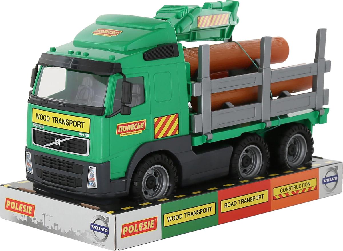 Полесье Лесовоз Volvo цвет зеленый пламенный мотор машинка инерционная volvo пожарная охрана