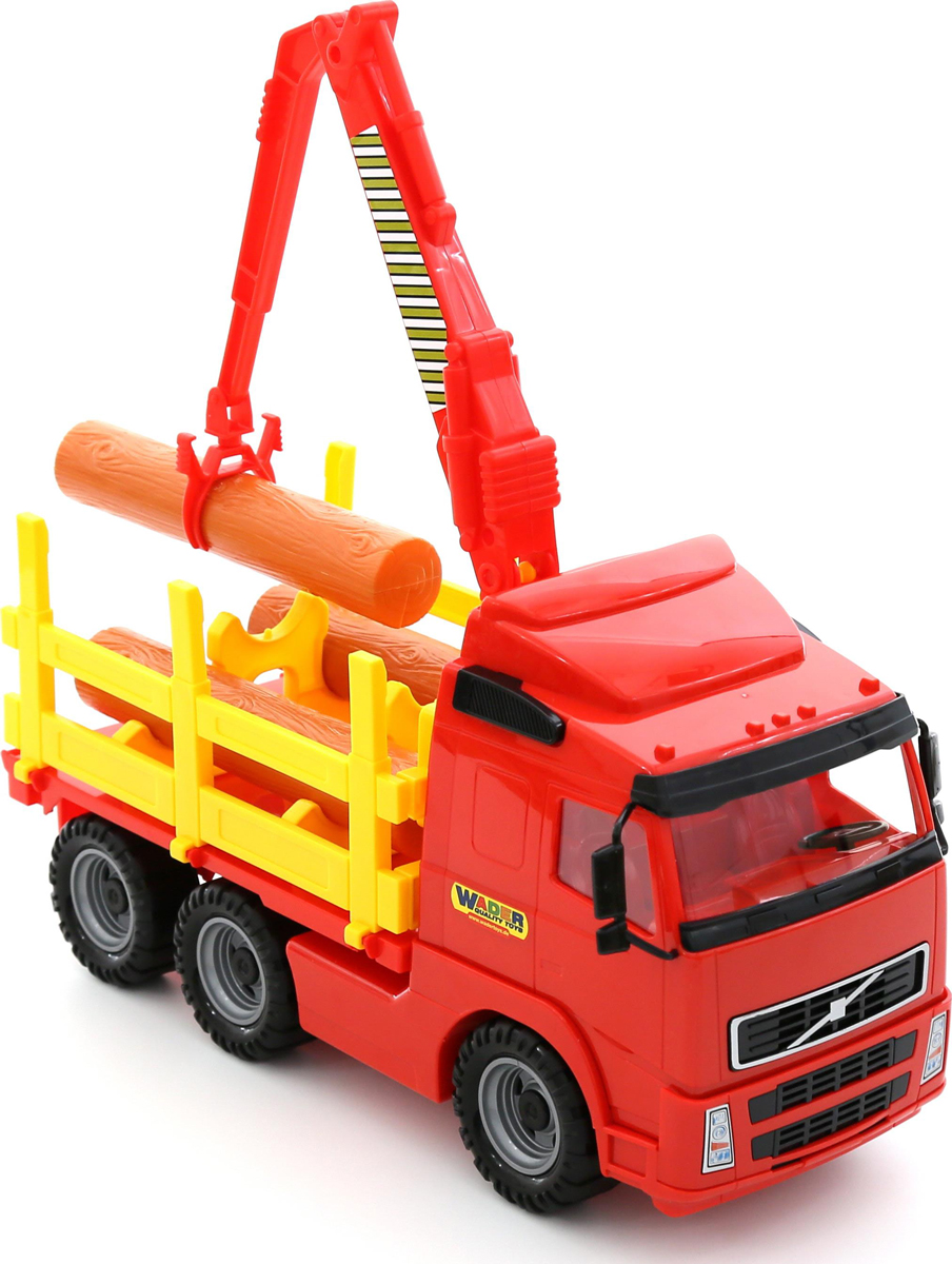 грузовики полесье игрушки Полесье Лесовоз Volvo цвет красный
