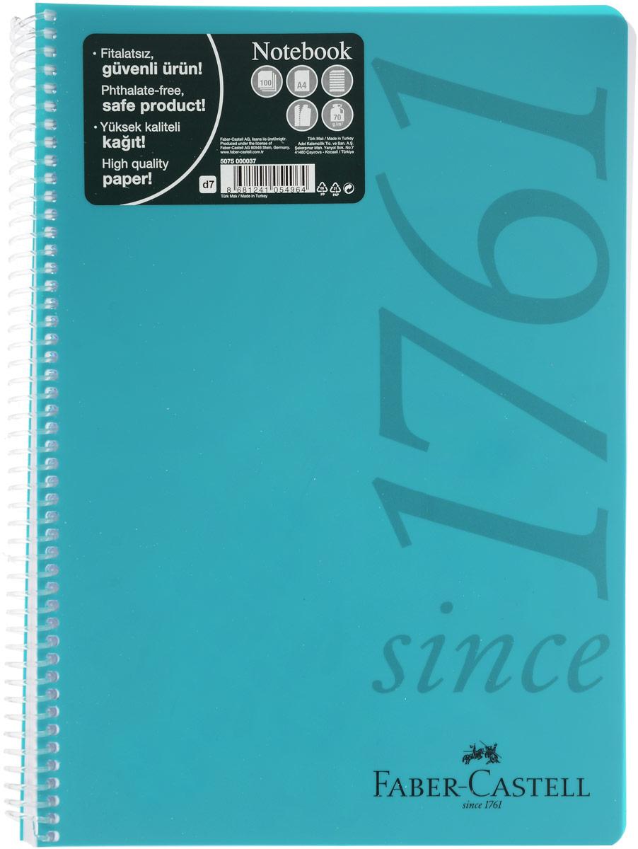Faber-Castell Блокнот Since 1761 100 листов в линейку цвет бирюзовый507037_бирюзовыйОригинальный блокнот Faber-Castell Since 1761 в твердой пластиковой обложке подойдет для памятных записей, любимых стихов и многого другого.Внутренний блок состоит из 100 листов в линейку. Блокнот скреплен спиралью. Такой блокнот станет вашим верным помощником,а также отличным подарком для в близких и друзей.