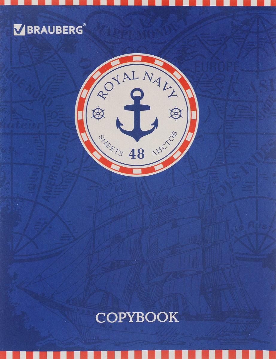 Brauberg Тетрадь Морские Корабль 48 листов в линейку brother x 5