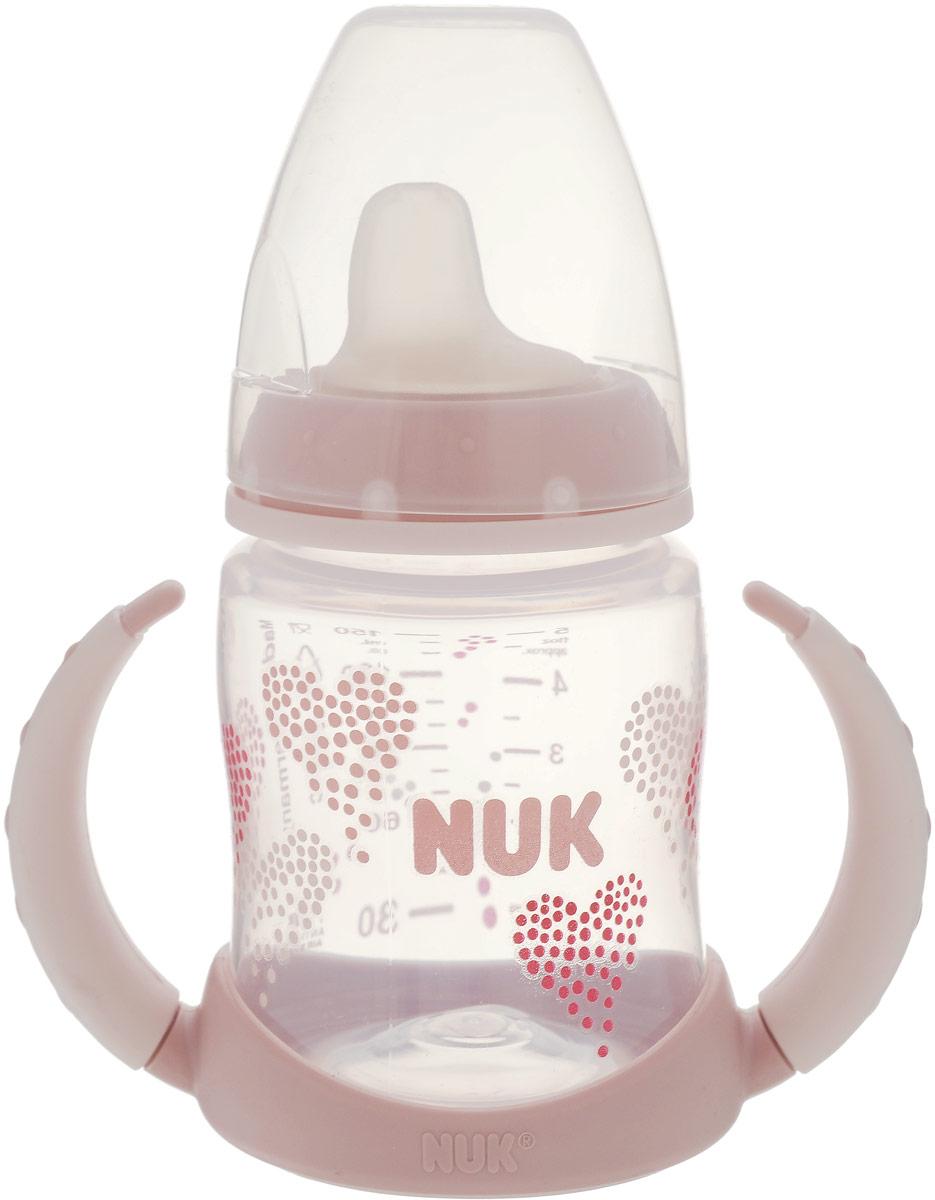 NUK Бутылочка-поильник First Choice с резиновым носиком от 6 месяцев цвет светло-розовый 150 мл nuk поильник с 6 месяцев