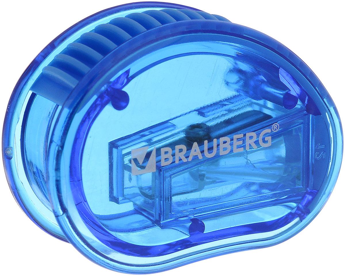Brauberg Точилка Marine с контейнером цвет синий222506_синийТочилка Brauberg Marine выполнена с контейнером. Качественное стальное лезвие обеспечивает лёгкое равномерное затачивание карандашей. Контейнер для стружки изготовлен из тонированного цветного пластика.