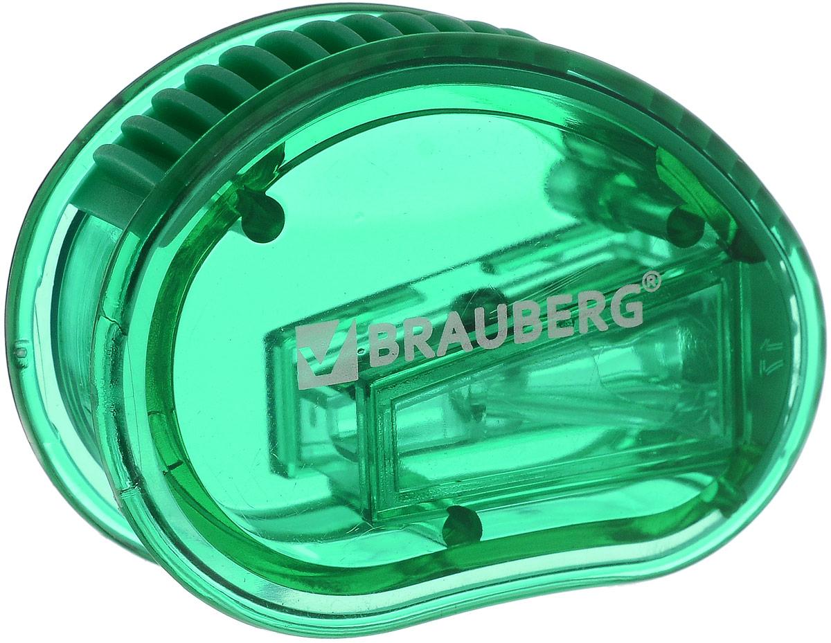 Brauberg Точилка Marine с контейнером цвет зеленый222506_зеленыйТочилка Brauberg Marine выполнена с контейнером. Качественное стальное лезвие обеспечивает лёгкое равномерное затачивание карандашей. Контейнер для стружки изготовлен из тонированного цветного пластика.