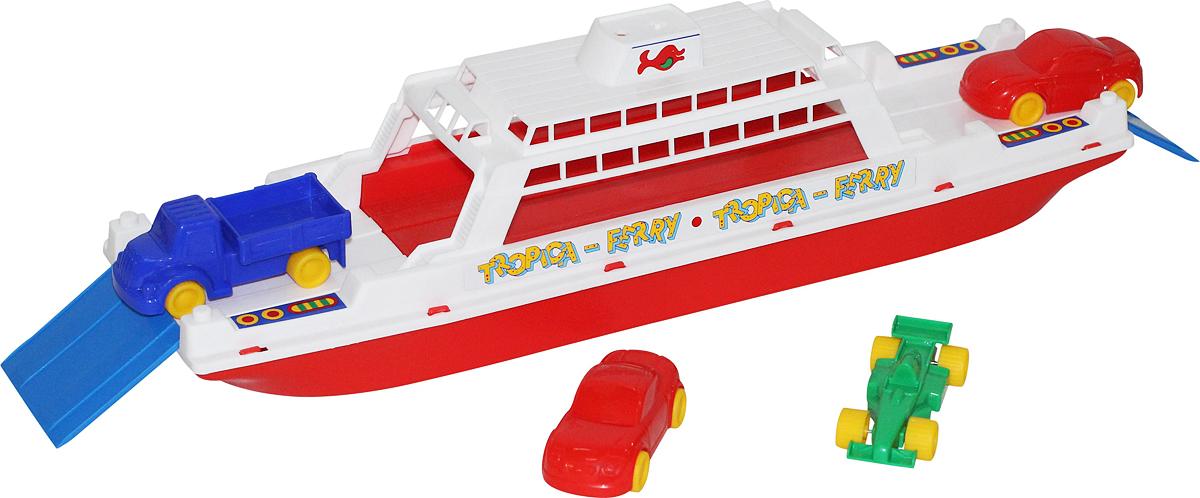 Полесье Паром Балтик + машинки Мини 4 шт игрушки для ванны полесье паром балтик автомобиль мини 4 шт