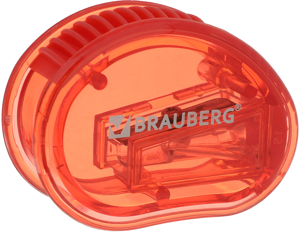 Brauberg Точилка Marine с контейнером цвет красный222506_красныйТочилка Brauberg Marine выполнена с контейнером. Качественное стальное лезвие обеспечивает лёгкое равномерное затачивание карандашей. Контейнер для стружки изготовлен из тонированного цветного пластика.