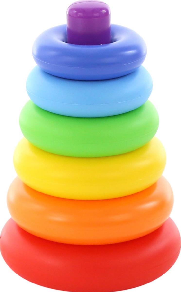 Полесье Пирамидка Колечко игрушка пирамидка мишка топтыжка