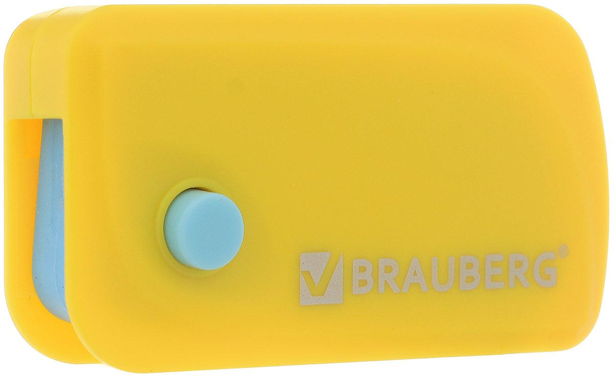 Brauberg Ластик Delta цвет желтый голубой223594_желтый, голубойЭксклюзивный ластик Brauberg Delta выполнен в пластиковом корпусе с резиновой кнопкой и выкидным механизмом. Резинка обеспечивает лёгкое и чистое стирание без повреждения поверхности бумаги и без образования бумажной пыли. Корпус имеет отверстие для ношения на шнурке.