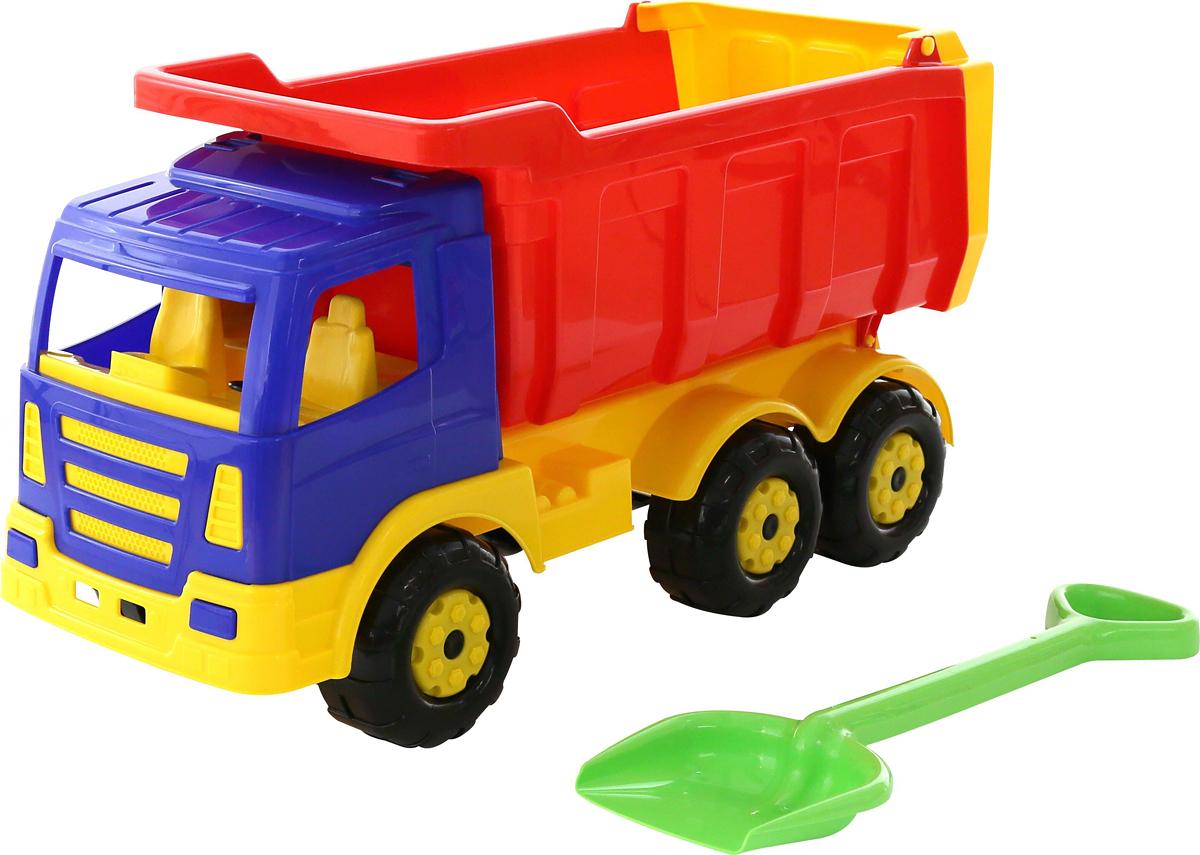 Полесье Самосвал Премиум + лопата большая самосвал полесье премиум красный желтый синий 6607