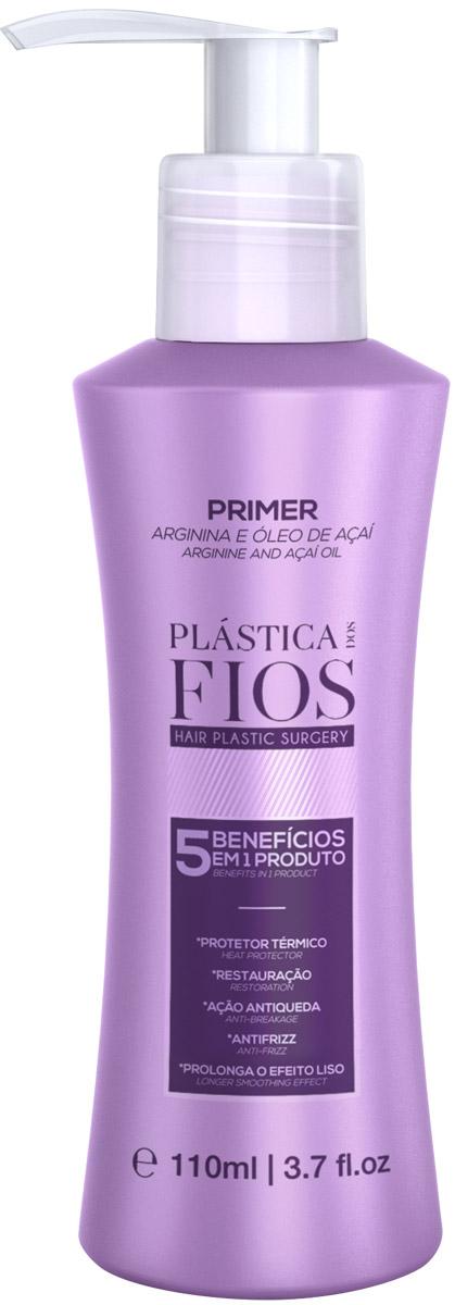 Plastica dos Fios Праймер, 110 млPA0135Не смываемый уход – 5 в 1!- омолаживающее воздействие- защита от УФ- сильная термозащита- способствует сохранению стуктуры- уплоняет кутикулу, формирует защитную пленку.Защищает Ваши волосы от разрушительного воздействия термических приборов для укладки, способствует сохранению прямой структуры и сохраняет форму прически при повышенной влажности.