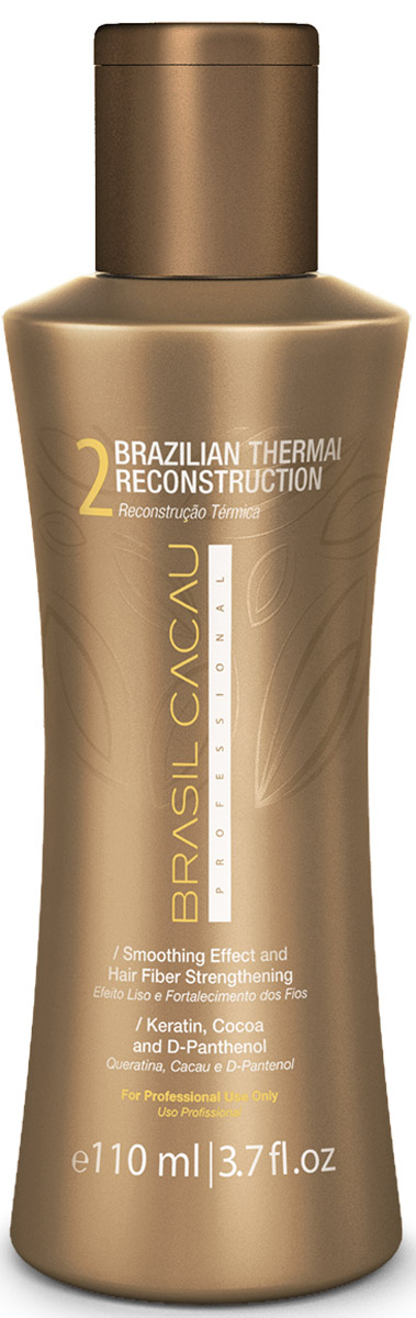 Brasil Cacau Средство для кератинового выпрямления Brazilian Thermal Reconstruction, 110 млPA0039Термальный реконструктор – создает эффект естественного разглаживания, делает волосы здоровыми, прямыми и блестящими.