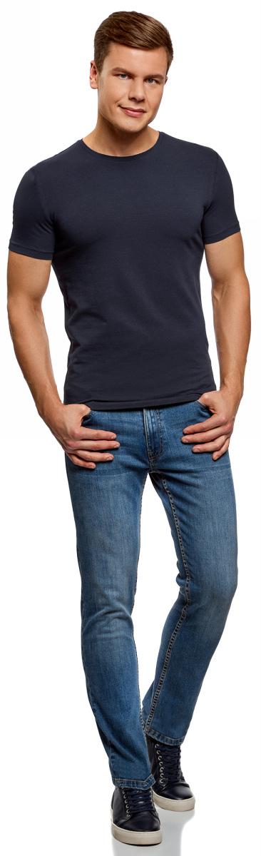 Футболка мужская oodji Basic, цвет: темно-бордовый, черный, 2 шт. 5B611004T2/46737N/1906N. Размер XXL (58/60)5B611004T2/46737N/1906NМужская базовая футболка от oodji выполнена из эластичного хлопкового трикотажа. Модель с короткими рукавами и круглым вырезом горловины. В комплекте 2 футболки.