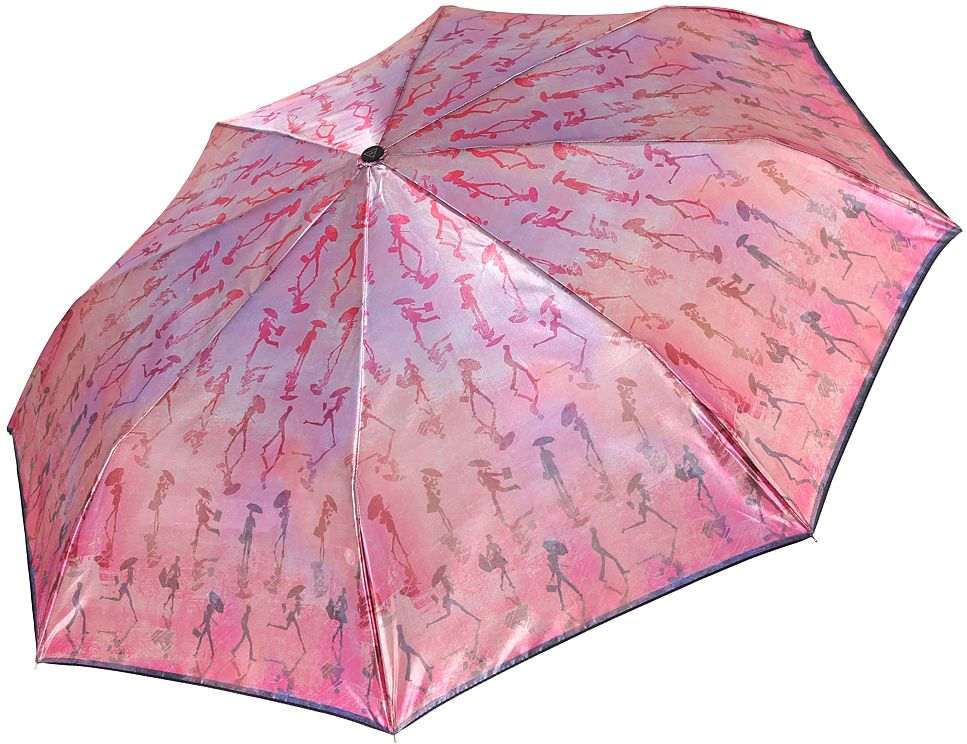Зонт женский Fabretti, автомат, 3 сложения, цвет: розовый. S-17105-6