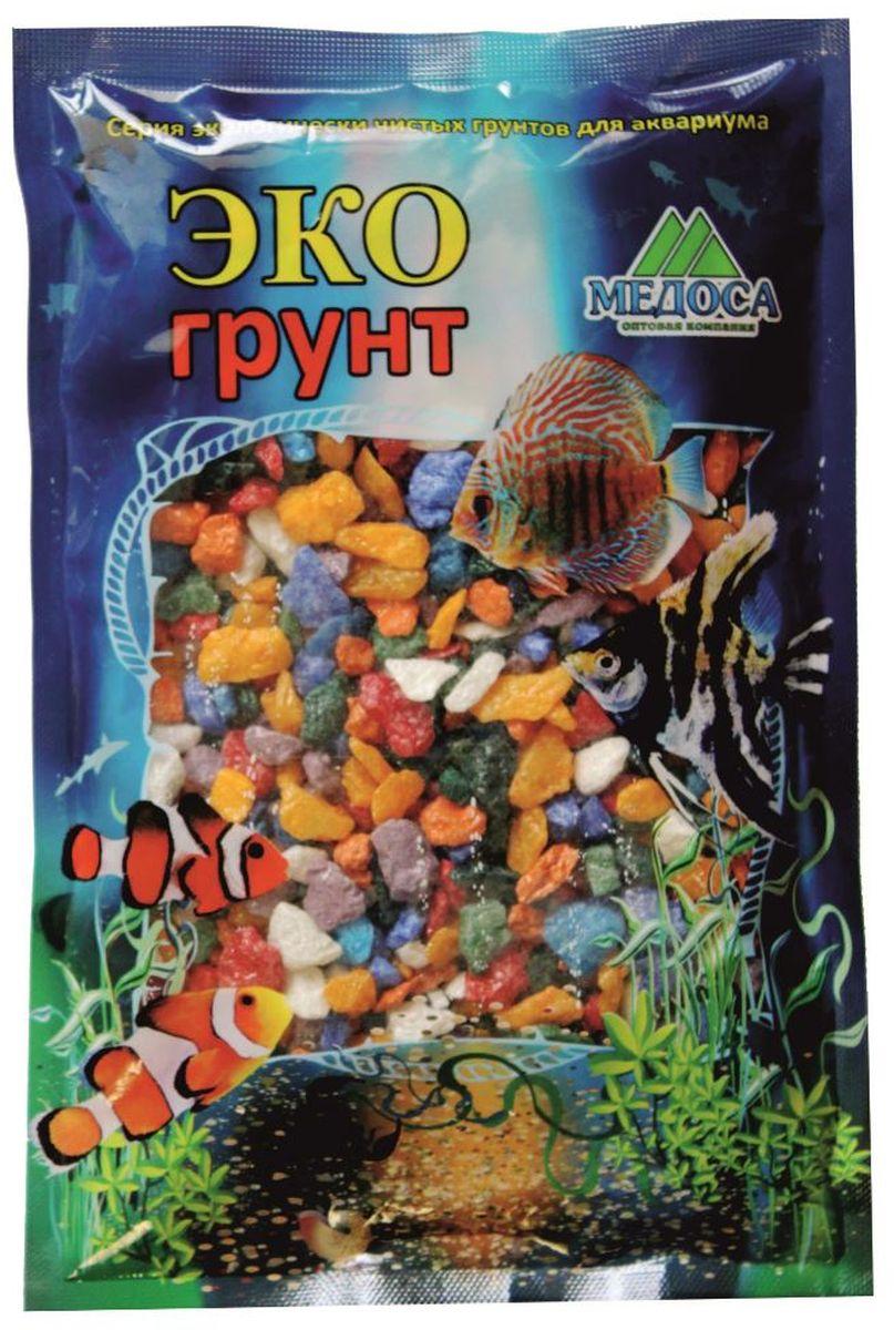 Грунт для аквариума ЭКОгрунт, мраморная крошка, цвет: микс, 5-10 мм, 1 кг. 380010 крошка мраморная красная фракция 10 20 мм 10 кг