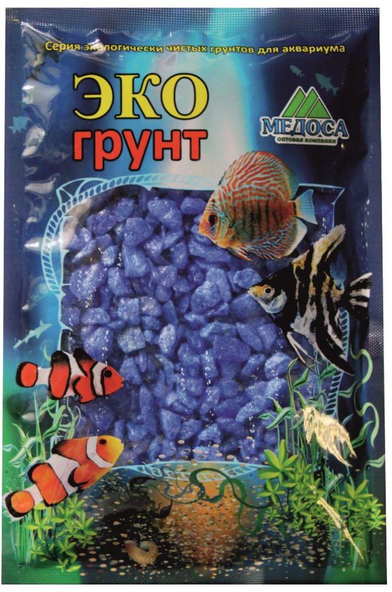 Грунт для аквариума ЭКОгрунт, мраморная крошка, цвет: синий, 5-10 мм, 1 кг. 430012 крошка мраморная красная фракция 10 20 мм 10 кг