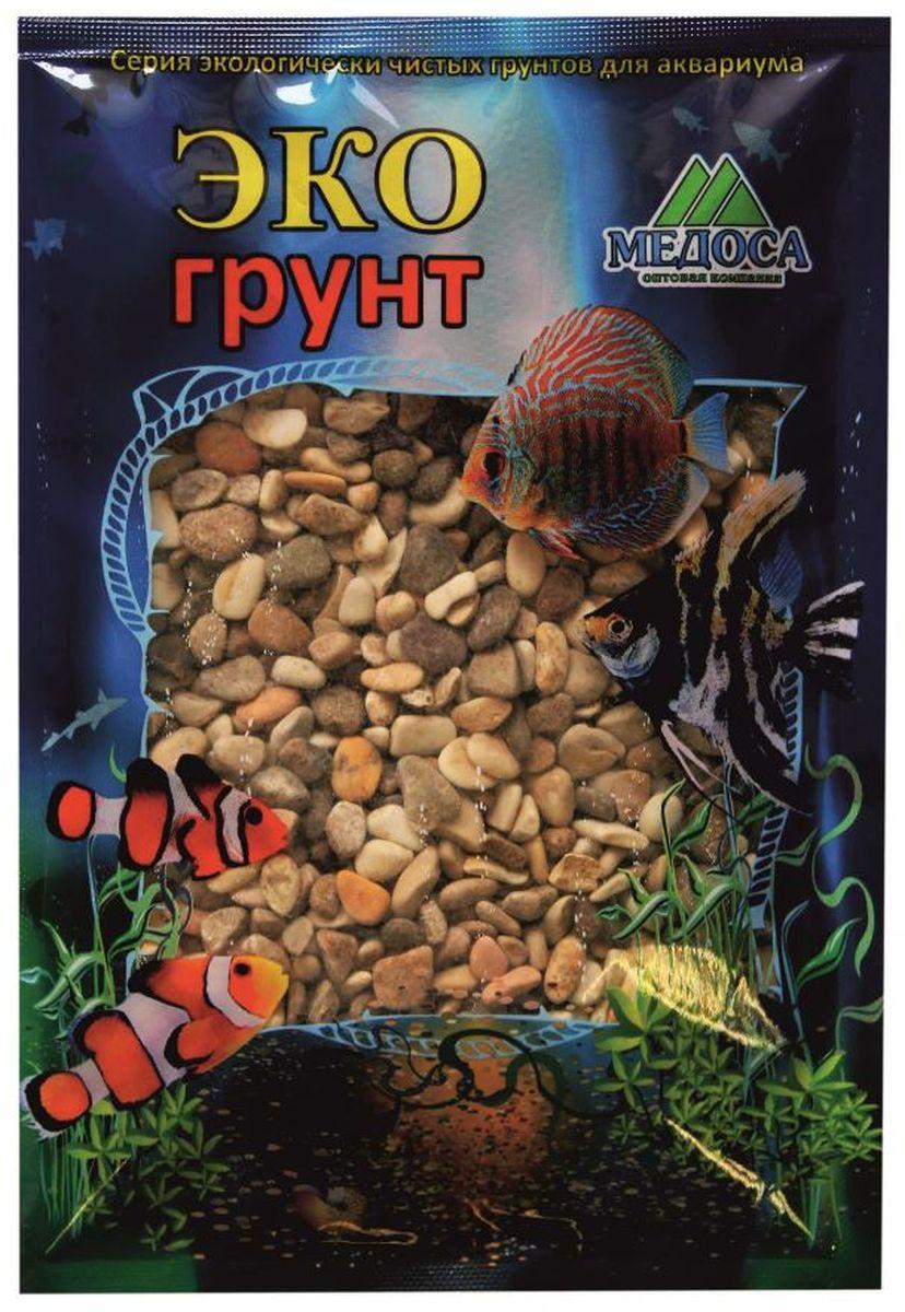 Грунт для аквариума ЭКОгрунт Каспий №2, галька, 5-10 мм, 1 кг. 470018 галька морская бежевая фракция 5 10 мм 1 кг