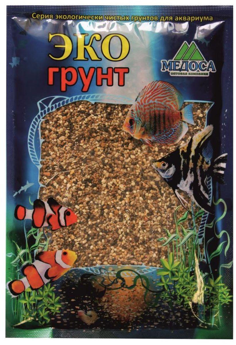 Грунт для аквариума ЭКОгрунт Реликтовая №1, галька, 2-5 мм, 1 кг. 490016 галька морская бежевая фракция 5 10 мм 1 кг