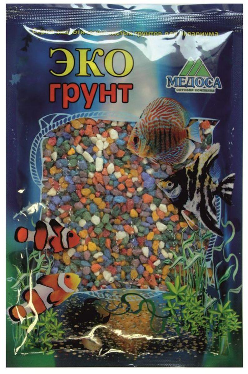 Грунт для аквариума ЭКОгрунт, мраморная крошка, цвет: микс, 2-5 мм, 1 кг. 500026500026Грунт ЭКОгрунт изготовлен из экологически чистого сырья, откалиброван, промыт и подвергнут термической обработке. Область применения - морскиеи пресноводные аквариумы, полюдариумы, террариумы.