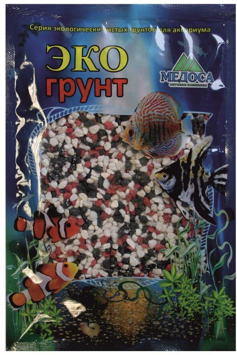 Грунт для аквариума ЭКОгрунт мраморная крошка цвет красный черный белый 2-5 мм 1 кг 500034