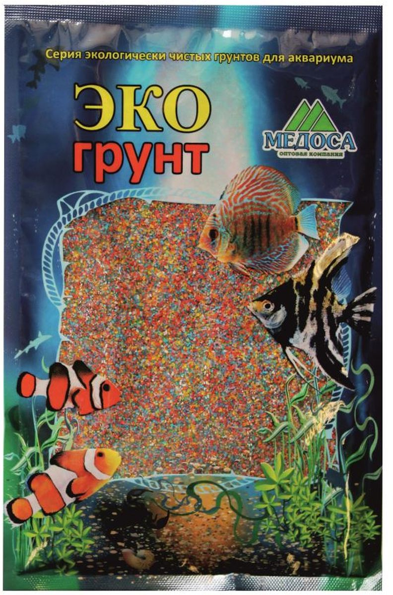 Грунт для аквариума ЭКОгрунт, песок, цвет: микс, 0,5-1 мм, 1 кгHX233 100W
