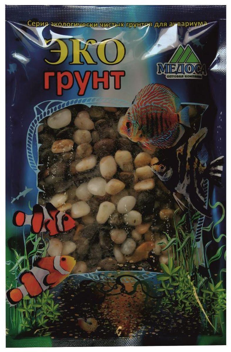 Грунт для аквариума ЭКОгрунт Феодосия №2, галька, 5-10 мм, 3,5 кг галька морская бежевая фракция 5 10 мм 1 кг