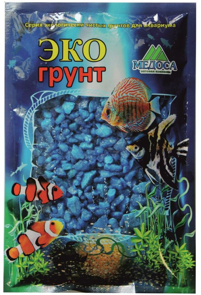Грунт для аквариума ЭКОгрунт, мраморная крошка, цвет: голубой, 5-10 мм, 3,5 кг. г-0229г-0229Грунт ЭКОгрунт изготовлен из экологически чистого сырья, откалиброван, промыт и подвергнут термической обработке. Область применения - морскиеи пресноводные аквариумы, полюдариумы, террариумы.