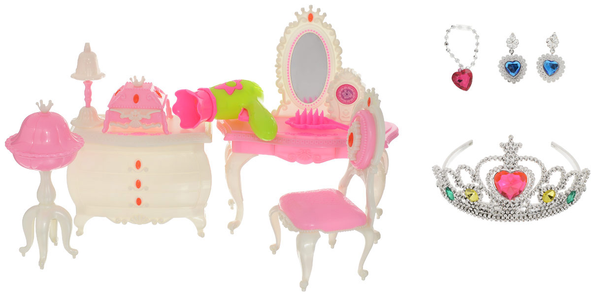 Shantou Gepai Мебель для кукол Туалетный столик с аксессуарами необычная мебель столик стул кошка