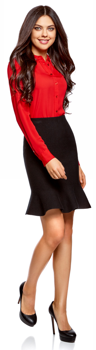 Юбка oodji Ultra, цвет: черный. 63612030-1/46096/2900N. Размер XL (50) пуловеры oodji пуловер