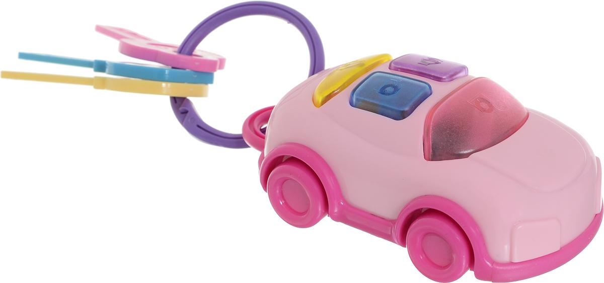 1TOY Развивающая игрушка Автоключики с машинкой цвет розовый автоключики д дев свет звук 14 5 21 см коробка