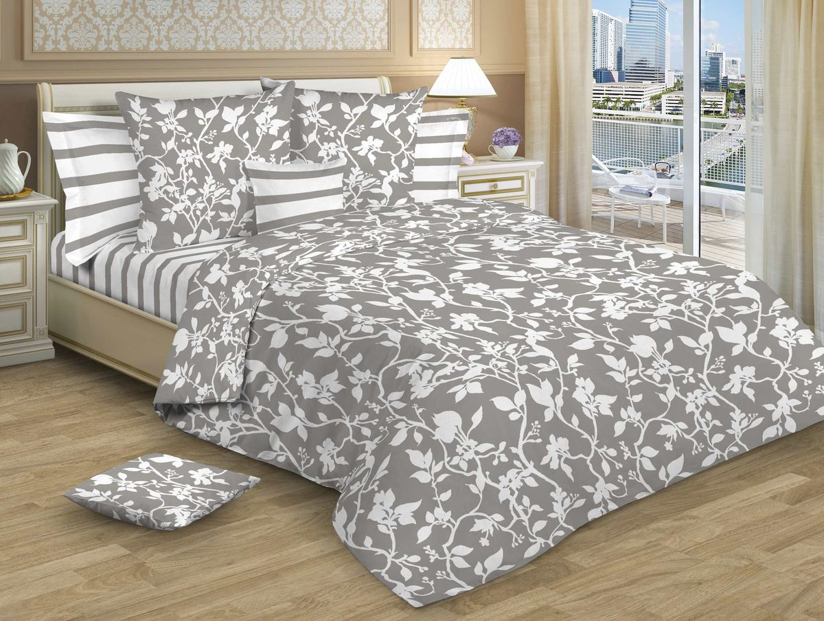 Комплект белья Guten Morgen, 1,5-спальный, наволочки 70х70 см. Р-775-143-150-70Р-775-143-150-70Изысканность, романтизм, нежность, ненавязчивая роскошь – основные черты, свойственные новой коллекции постельного белья,100% хлопок,удачное решение для вашей спальни!