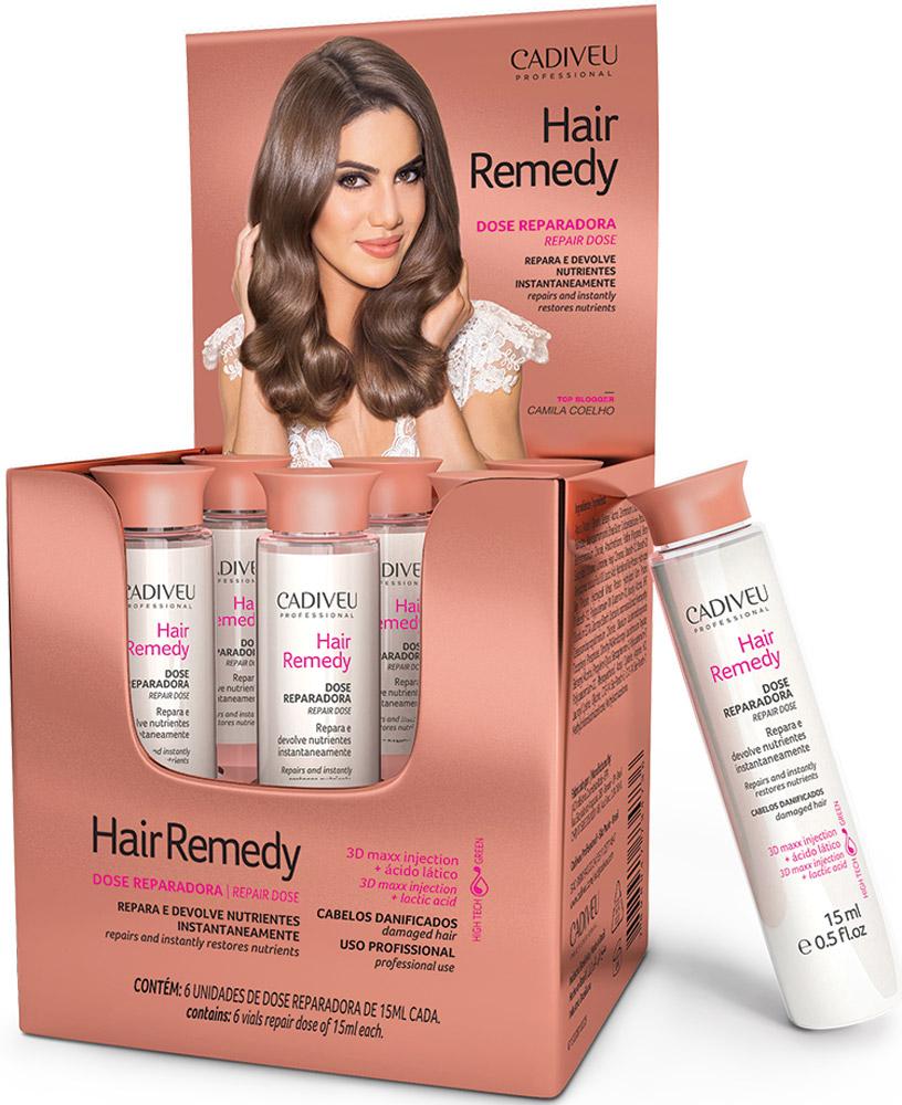 Cadiveu Восстанавливающий концентрат Hair Remedy - Instant Restructuring Vials 15 мл (Box with 6 vials 15 мл)PA0103Восстанавливающий концентрат- Мгновенное насыщение питательными веществами. Обогащен молочной кислотой, богат антиоксидантами, защищает волосы от повреждений.