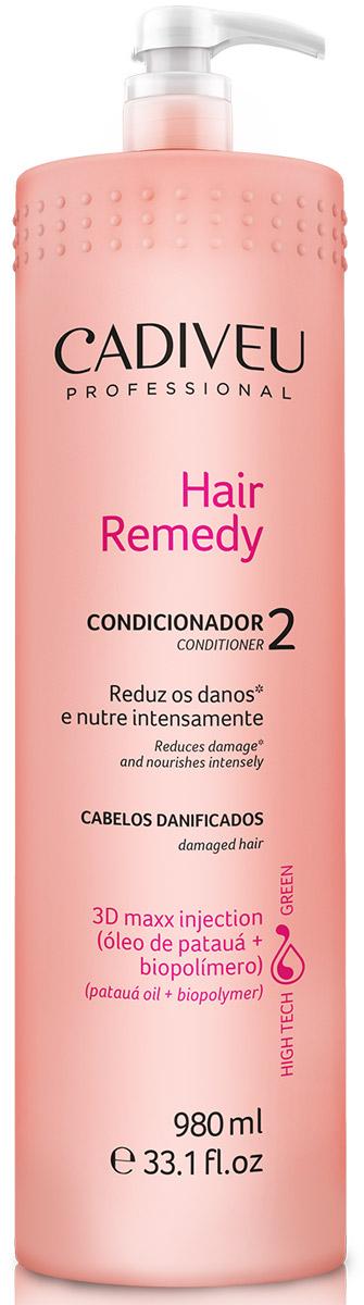 Cadiveu Кондиционер Hair Remedy, 980 млPA0102Возвращает волосам питательные вещества, придает трехмерное сияние поврежденным и тусклым волосам, облегчает расчесывание.