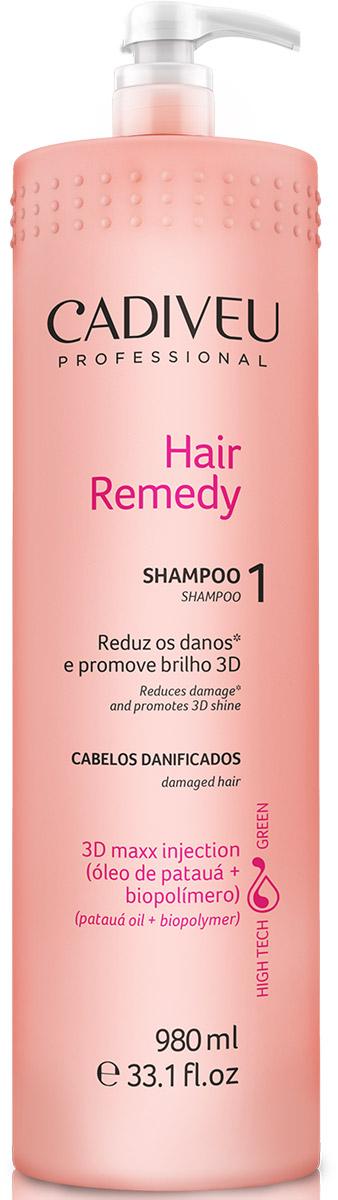 Cadiveu Шампунь Hair Remedy, 980 млPA0109Очищает, подготавливает волосы к процедуре. Максимально питает и увлажняет структуру волос.