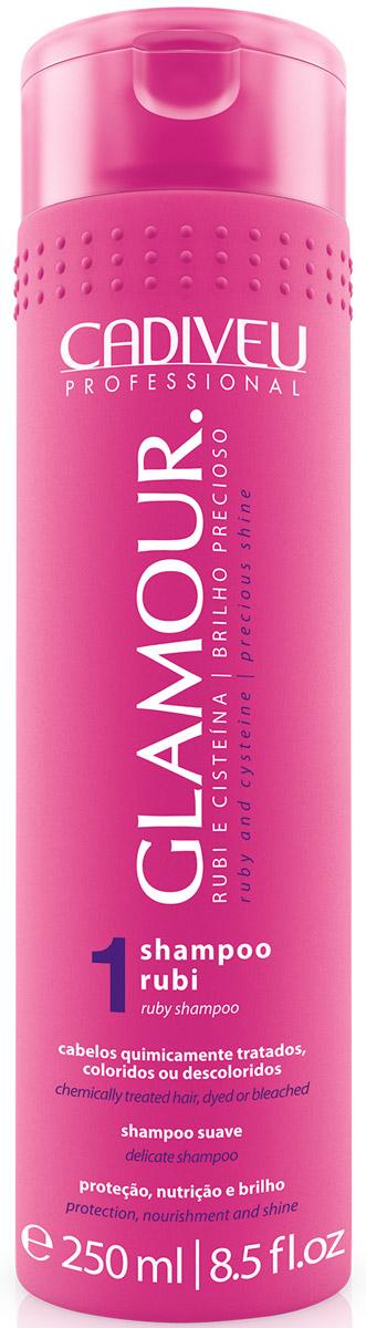 Cadiveu Шампунь Glamour - Ruby Shampoo, 250 млPA0093Шампунь линии GlamourPlus специально предназначен для ежедневного ухода. Благодаря регулярному использованию, Ваши волосы сохранят свой блеск и надолго останутся идеально прямыми.