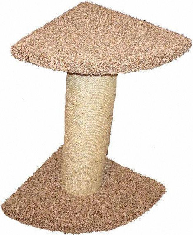 Когтеточка Пушок Зонтик мощный, цвет: бежевый, 45 х 45 х 80 см4640000930677Когтеточка Пушок Зонтик мощный - супер-устойчивая и компактная когтеточка. Толстый столб имитирует ствол дерева, благодаря чему ваша кошка будет с удовольствием точить об него когти. Когтеточка-столб обмотан высококачественной сизалевой веревкой, поэтому когтеточка будет служить долго. Когтеточка подойдет для любых пород кошек, от самых маленьких до крупных. Если вы хотите, чтобы когтеточка занимала совсем немного места в вашем доме, тогда угловая когтеточка Зонтик мощный - отличный выбор!Размер: 45 х 45 х 80 см.