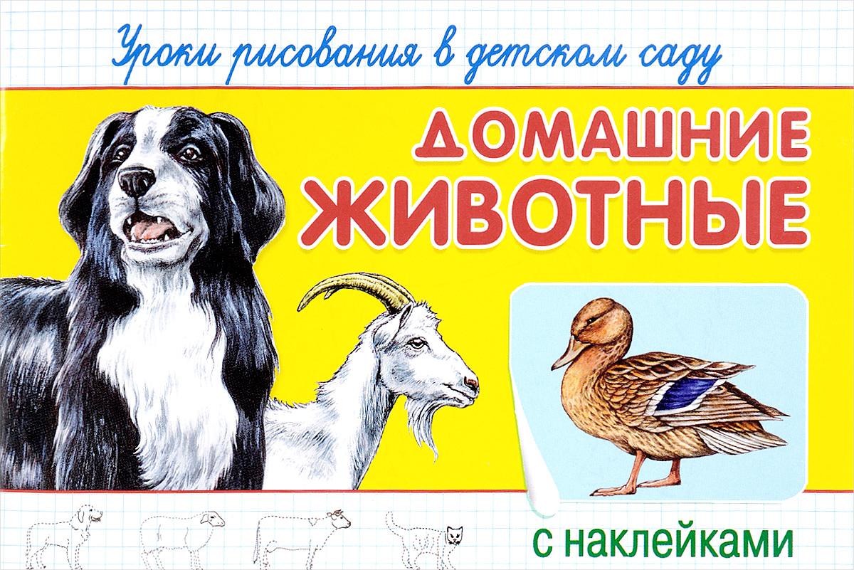 Уроки рисования в детском саду с наклейками. Домашние животные