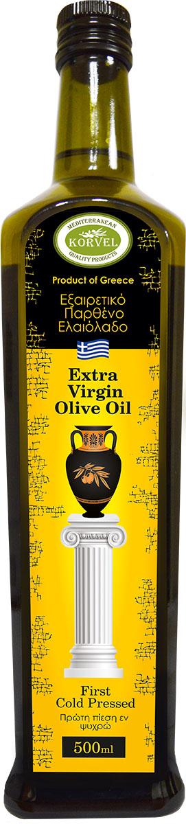 Korvel оливковое масло Extra Virgin Греция данае, 500 мл minerva extra virgin оливковое масло 500 мл