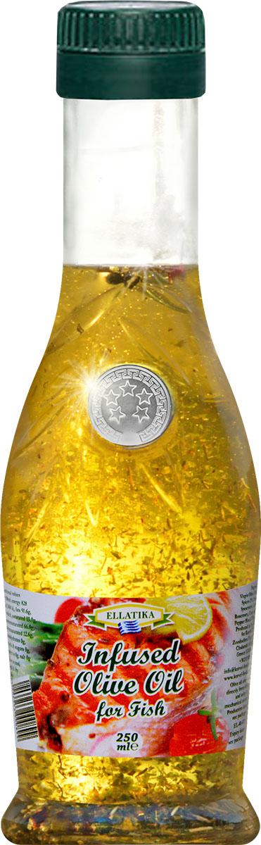 Ellatika ароматное оливковое масло для рыбы, 250 мл102213000899До жарки, придайте вашей рыбе изумительный вкус средиземноморского деликатеса.