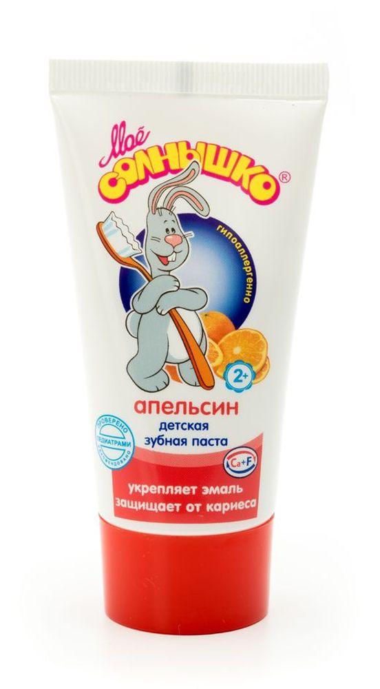 Мое солнышко Зубная паста детская апельсин 65 г35550630Обладает мягким очищающим действием. Хорошо пенится. Не содержит сахар. Оптимальное содержание фтора исключает передозировку при случайном проглатывании. Отличный вкус и аромат пасты понравятся детям и помогут привить им привычку регулярно чистить зубы. Клинически проверено и рекомендовано ФГУ МНИИ Педиатрии и детской хирургии Минздрава России.
